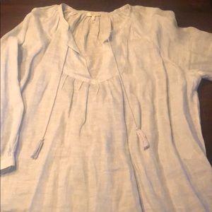 Joie light blue linen blouse